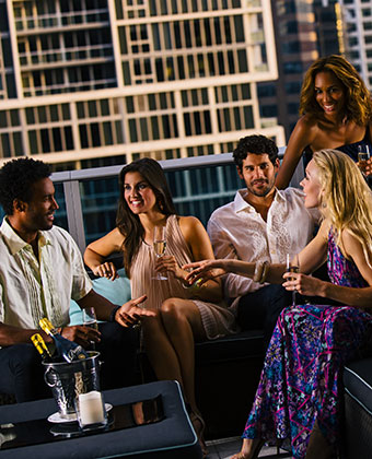 group lifestyle rooftop bar